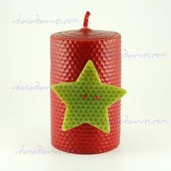 Vela Navidad estrella de 13 x 8 cm.
