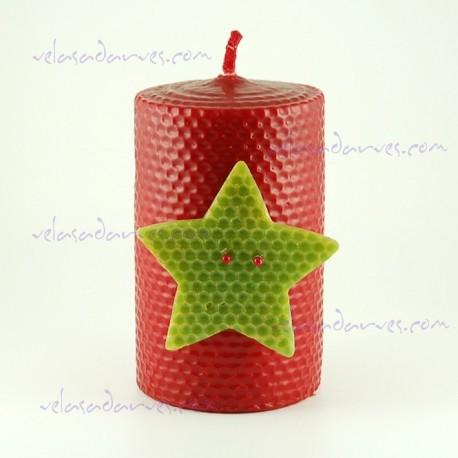 Navidad estrella 13 x 8 cm.