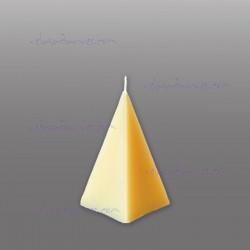 Pirámide de cera blanca