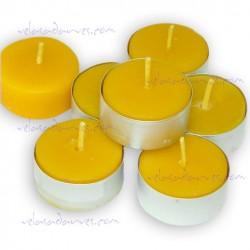 Pack de 12 velas de té base aluminio