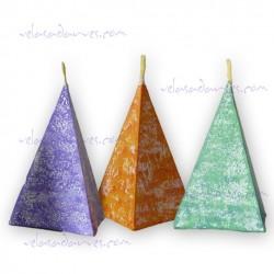Vela Pirámide decorada pequeña