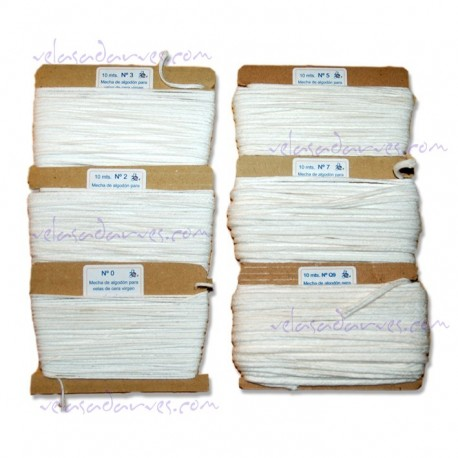 Mecha de algodón nº. 10