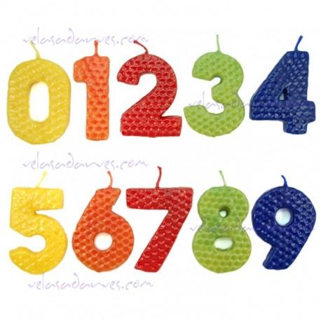 Vela número cumpleaños