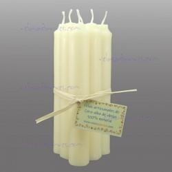 Pack 6 velas cera alba pura 15 x 2 cm.